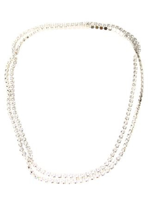 Long Three Strand Crystal Necklace by Tom Binns in The Second Best Exotic Marigold Hotel