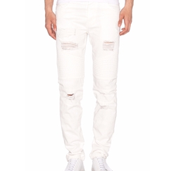 Moto Repaired Denim Jeans by Stampd in Empire
