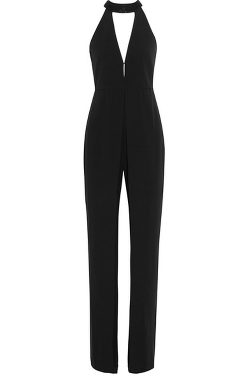 Embellished Stretch-Crepe Jumpsuit by Halston Heritage in Keeping Up With The Kardashians - Season 11 Episode 12