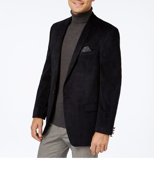 Textured Velvet Solid Sport Coat by Tallia  in Silicon Valley