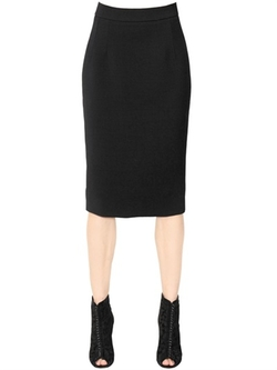 Stretch Wool Pencil Skirt by Dolce & Gabbana in Suits