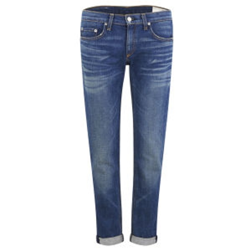 Mid Rise Cropped Slim Fit Boyfriend Jeans by Rag & Bone in The Visit