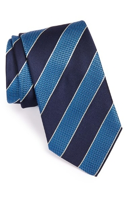 Stripe Silk Tie by Boss Hugo Boss in Southpaw