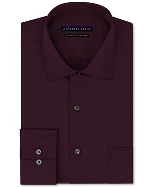 Sateen Solid Dress Shirt by Geoffrey Beene in John Wick