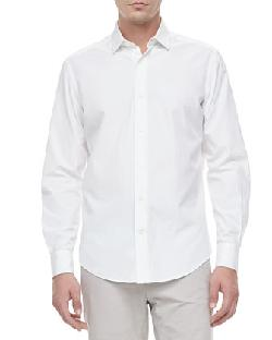 Slim-Cut Woven Dress Shirt by Lanvin in The Wolf of Wall Street