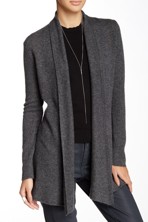 Open Front Cashmere Cardigan by In Cashmere in Love Actually