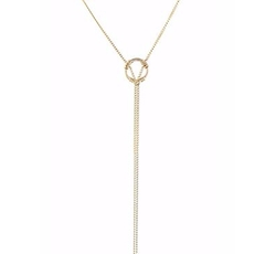 Suspension Lariat Necklace by Peggy Li in Arrow