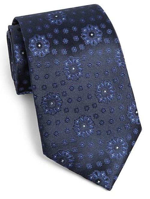 Floral Jacquard Silk Tie by Armani Collezioni in Mortdecai