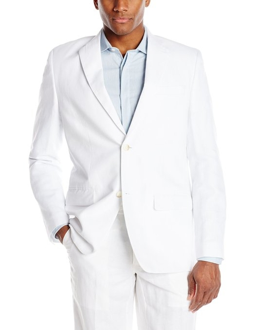 Men's Linen Suit Blazer by Perry Ellis in Fight Club