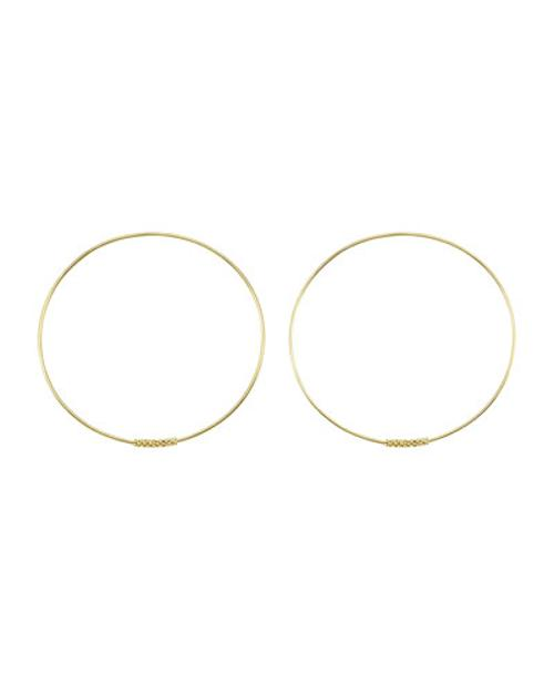 18k Caviar-Closure Hoop Earrings by Lagos in Couple's Retreat