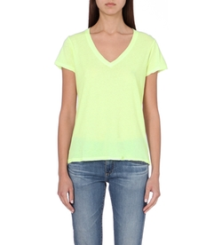 V-Neck Cotton-Jersey T-Shirt by Sundry in The Choice