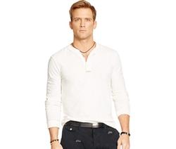 Textured Henley Shirt by Polo Ralph Lauren in The Best of Me