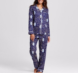 Flannel Pajama Set in Owl Stargaze by Target in New Girl