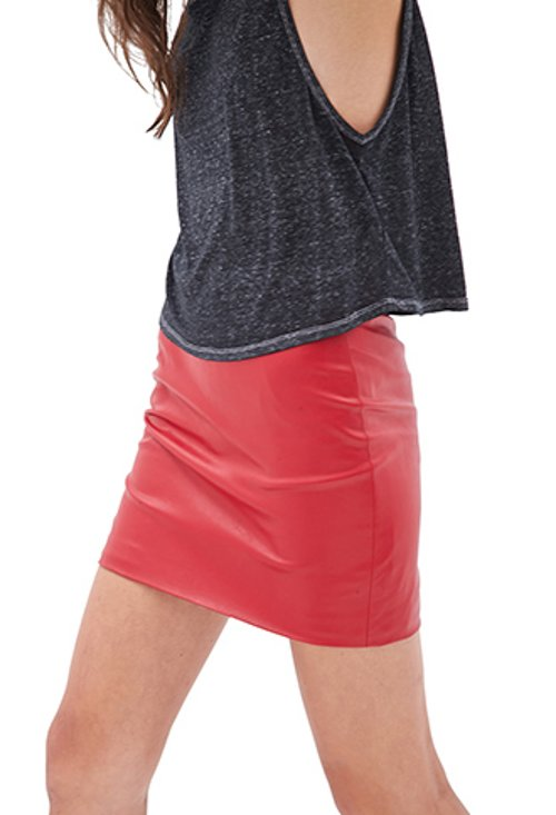 Faux Leather Mini Skirt by Forever21 in Neighbors