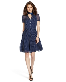 Polka-Dot Silk Georgette Dress by Ralph Lauren in Fifty Shades Darker