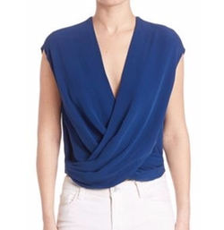 Cap Sleeve Silk Top by L'Agence in Fuller House