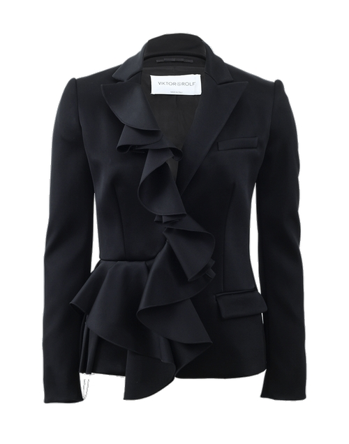 Ruffle Front Blazer by Viktor & Rolf in Suits - Season 5 Episode 2