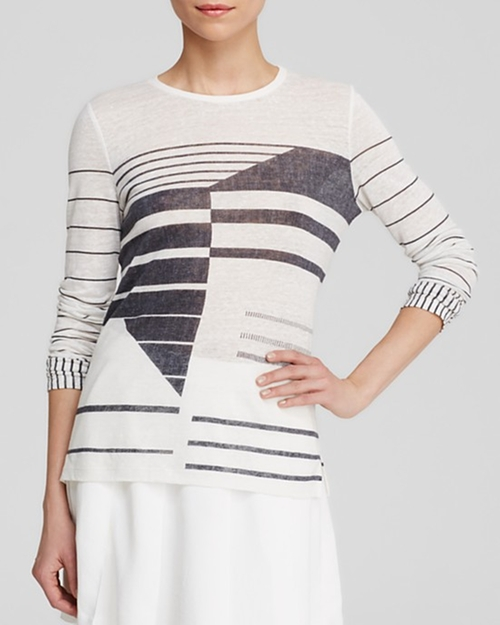 Abstract Stripe Tee by Vince in Pretty Little Liars