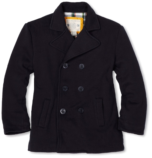 Boys' Fleece Pea Coat by Wes And Willy in Pan
