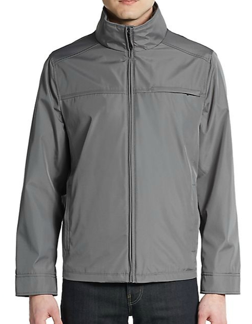Water-Resistant Zip-Front Jacket by Calvin Klein in The A-Team