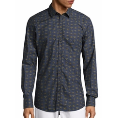 Crown-Print Cotton Sportshirt by Dolce & Gabbana in Empire