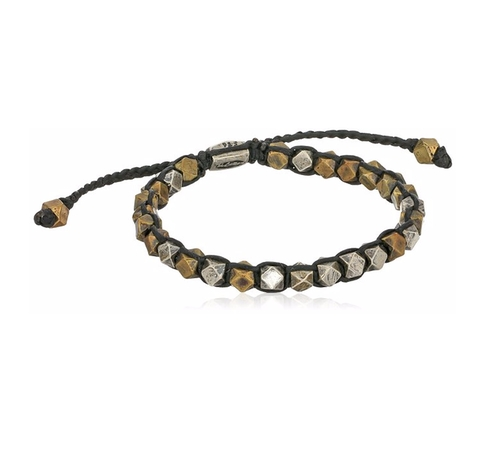 Wax Cord & Brass Cornerless Bead Bracelet by M.Cohen Handmade Designs in Ballers - Season 1 Episode 4
