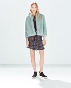 Colored Fur Coat by Zara in Scream Queens