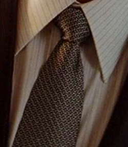 Custom Made Geometric Tie by Jefrey Kurland (Costume Designer) in Inception