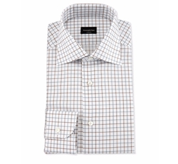 Multicolor Box-Check Dress Shirt by Ermenegildo Zegna in Ballers