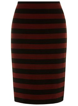 Black And Berry Stripe Skirt by Dorothy Perkins in The Boy Next Door