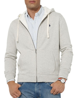 Full-Zip Fleece Hoodie by Polo Ralph Lauren in Barbershop: The Next Cut