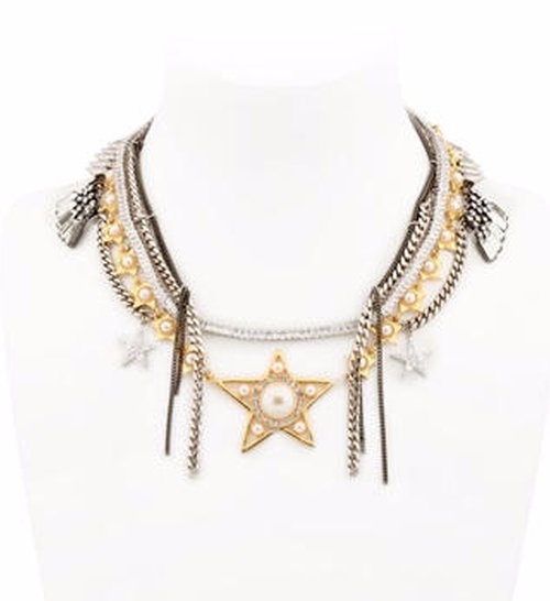 Stars Multi Chain Necklace by Venna in Empire - Season 2 Episode 16