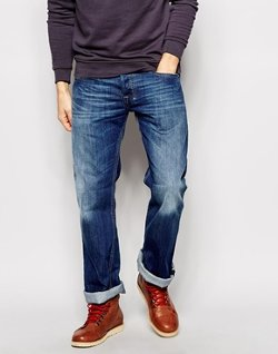 Zatiny Bootcut Mid Wash Jeans by Diesel in Begin Again