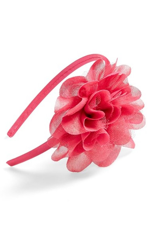 Metallic Flower Headband by Capelli of New York in New Year's Eve