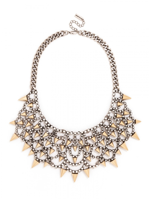 Gothic Fang Bib Necklace by BaubleBar in Pretty Little Liars - Season 6 Episode 12