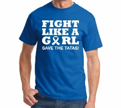 Fight Like A Girl! Save The Tatas Shirt by Comical Shirt in Entourage