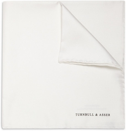 Silk Pocket Square by Turnbull & Asser in London Has Fallen