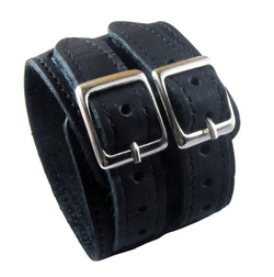 Classic Design Black Cuff Leather Bracelet by Jasmine in Pretty Little Liars