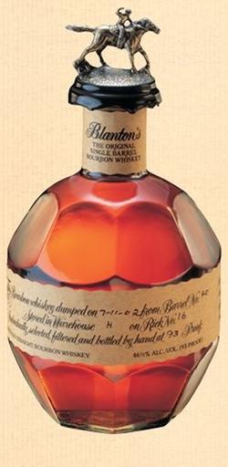 The Original Single Barrel Bourbon Whiskey by Blanton's in John Wick