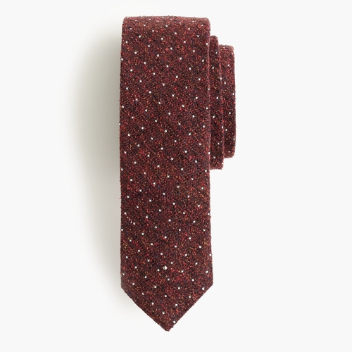 English Microdot Silk Tie by J.Crew in Scream Queens - Season 2 Episode 2