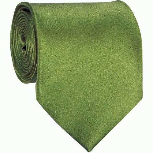 Olive Green Solid Color Tie by The Perfect Necktie in Addicted