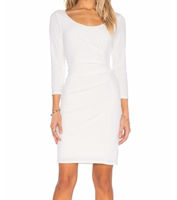 Gini Stretch Jersey 3/4 Sleeve Dress by Velvet by Graham & Spencer in Suits