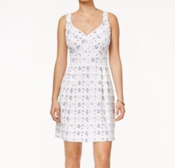 Anchor-Print Fit & Flare Dress by Maison Jules in Jane the Virgin