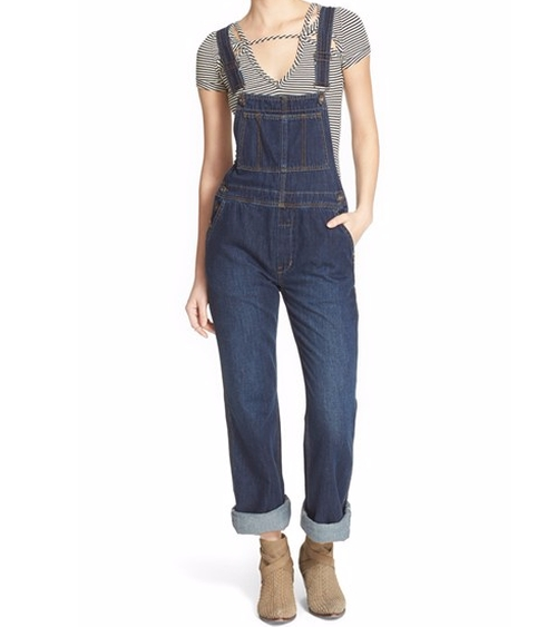 'Davis' Denim Overalls by Free People in New Girl - Season 5 Episode 11