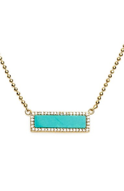 Bar Pendant Necklace by Melanie Auld in Arrow