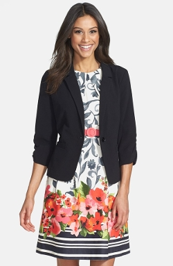 Ruched Sleeve Blazer by Eliza J in Entourage