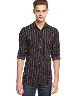 Marching Drill Striped Shirt by Vintage Red in We're the Millers