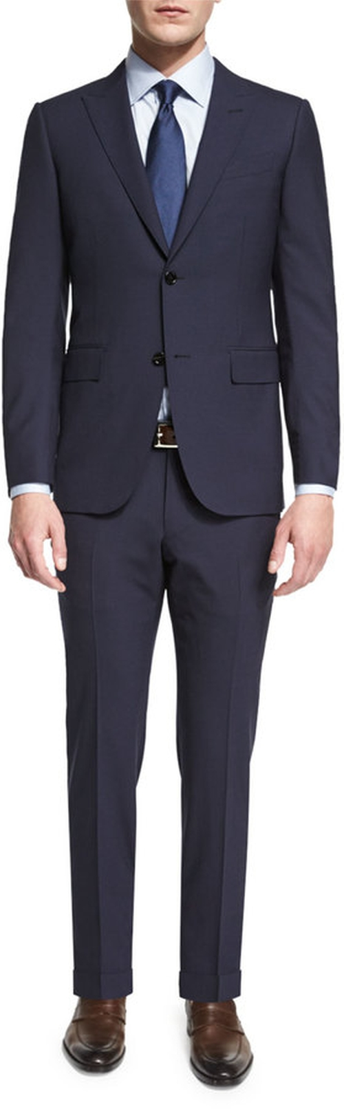 Torino Peak-Lapel Two-Piece Wool Suit by Ermenegildo Zegna in Empire
