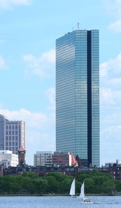 Boston, Massachusetts by John Hancock Tower in Spotlight