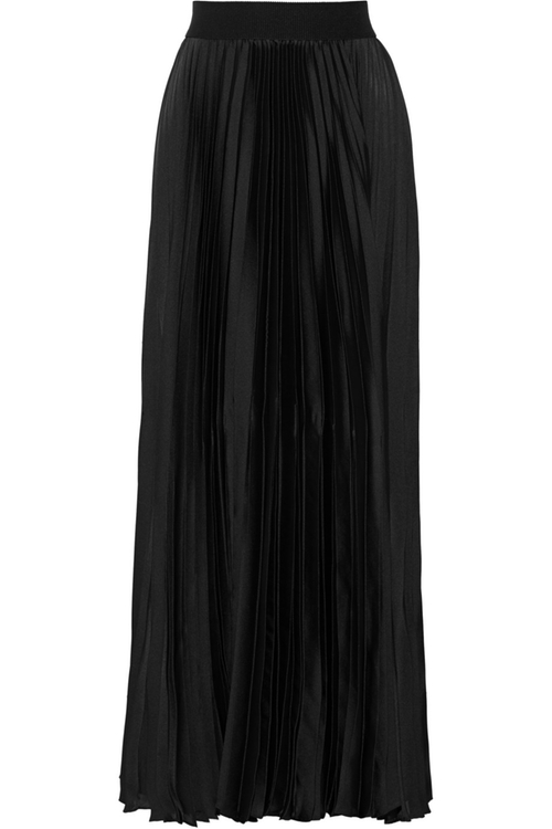 Pleated Satin Skirt by Enza Costa in By the Sea